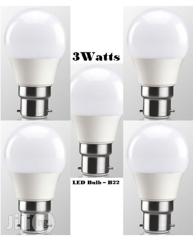5pcs 3watt LED Energy Saving White Light Bulb - Pin Base (B22)