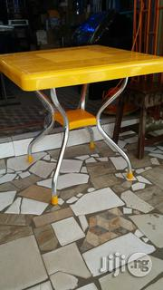 Plastic Table With Square Diameter With Iron Legs Capable Of Carring 7 | Home Appliances for sale in Lagos State, Mushin