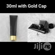 30ml Empty Black Cosmetic Lotion Tube With Gold Screw Cap | Manufacturing Materials & Tools for sale in Lagos State