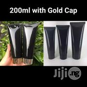 200ml Empty Black Cosmetic Lotion Tube With Gold Screw Cap | Manufacturing Materials & Tools for sale in Lagos State