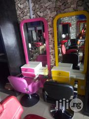 Barbing Saloon Chair & Mirror E+ | Salon Equipment for sale in Lagos State, Victoria Island