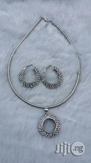 Silver Earring and Pendant Set With Chord | Jewelry for sale in Lagos State, Ajah