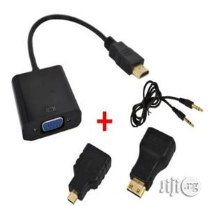HDMI To VGA Converter With Audio Cable + 2 Micro Mini HDMI Connector Adapter For HD HDTV PC