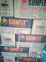 Sunfit Gold 12v200ah Deep Cycle AGM Lead Acid Battery   Solar Energy for sale in Lagos State, Lagos Mainland