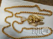 Original 18karat Pure Gold Necklace Twisted With Egyptians Pendant | Jewelry for sale in Lagos State, Lagos Mainland