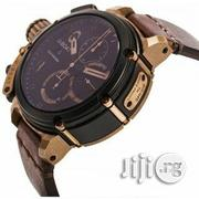 U-boat Chronograph Leather Wristwatch Brown | Watches for sale in Lagos State, Oshodi-Isolo