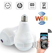HD 360° Wide Angle Fisheye Wireless E27 LED Light Bulb VR Panoramic IP Camera | Security & Surveillance for sale in Lagos State, Ikeja
