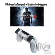 PS4 Controller Pad + Uncharted 4 Game | Video Game Consoles for sale in Lagos State, Ikeja