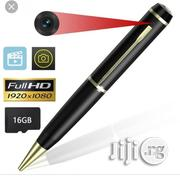 Spy Camera Pen, 1080P Hidden Pen Camera-gold | Security & Surveillance for sale in Lagos State, Ikeja