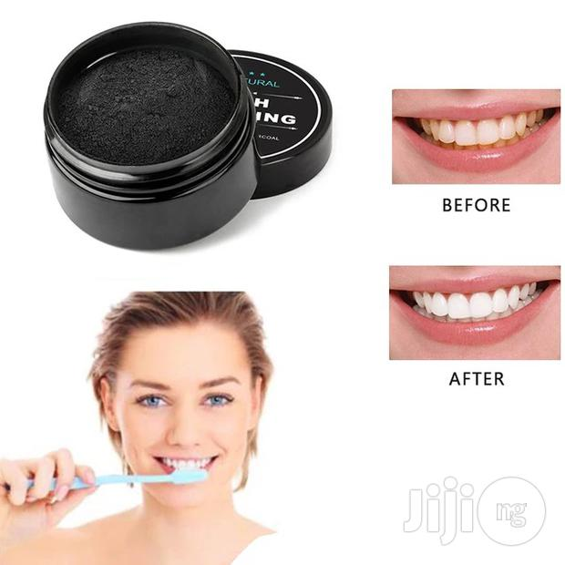 Teeth Whitening Powder Organic Activated Charcoal + Bamboo Toothbrush