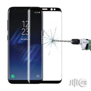 Galaxy S8 / G950 Full Tempered Glass Screen Protector (Black)
