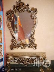 Quality Wooden Royal Console With With Mirror Glass | Home Accessories for sale in Lagos State, Ojo