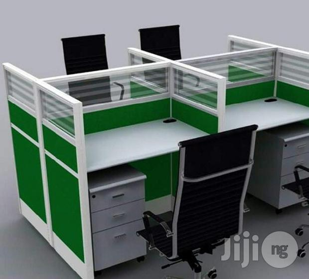 Superior 4-Man Office Workstation Table