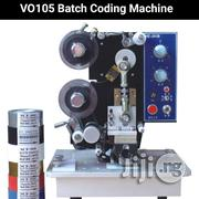VO105 Semi Automatic Ribbon Expiry Date & Batch Code Printing Machine | Printing Equipment for sale in Lagos State, Lagos Mainland