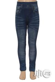 Girls Denim Look Printed Pull on Jeggings | Children's Clothing for sale in Lagos State, Surulere