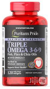 Puritan's Pride Triple Omega 3-6-9 Fish and Flash Oils   Vitamins & Supplements for sale in Lagos State, Surulere