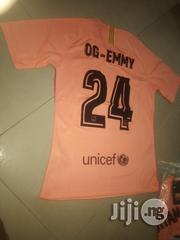 Barcelona Away Kit Jersey With Flock Printing   Children's Clothing for sale in Lagos State, Ikeja