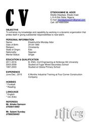 Engineering Architecture CV | Engineering & Architecture CVs for sale in Lagos State, Lekki Phase 1