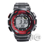 Digital Rubber Waterproof Watch- Red | Watches for sale in Lagos State, Lekki Phase 2