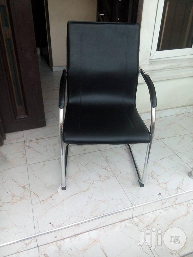 Office Strong Leather Visitors Chair