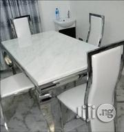 High Quality Marble Dining Table With Four Quality Chairs Brand New   Furniture for sale in Lagos State, Amuwo-Odofin
