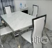 High Quality Marble Dining Table With Four Quality Chairs Brand New   Furniture for sale in Lagos State, Lekki Phase 2