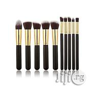 10 Piece Professional Makeup Brush Set - Black/Gold | Makeup for sale in Lagos State, Yaba