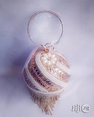 Beaded/Diamante Glittering Gold Ball Clutch/Purse