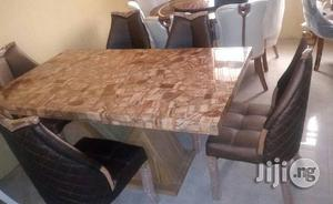 Crystal Marble Dining Table (Location Is Lagos)