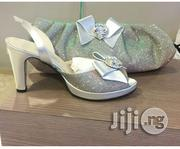 Iridescent Daszzling Italian Matching Shoe and Bag Set   Shoes for sale in Lagos State, Surulere
