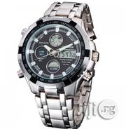 165 Quartz Sport Muti-Functional Silver Wrist Watch -Quamer | Watches for sale in Lagos State, Alimosho