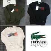 Lacoste Long Sleeve Crew Neck Cotton Fleece Sweatshirt | Clothing for sale in Lagos State, Lagos Mainland