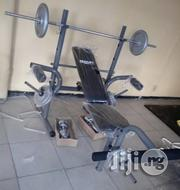 Weight Bench With 50kg Barbell | Sports Equipment for sale in Abuja (FCT) State, Jabi