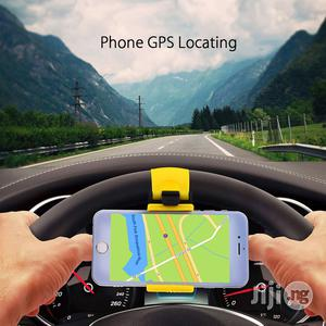 Car Holder Steering Wheel Clip Mount Rubber Band Holder For iPhone