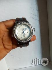 Invicta Silver Leather Strap Watch | Watches for sale in Lagos State, Lagos Island