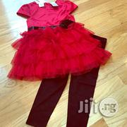 Girls Red and Black 2 Piece Leggings Set - 3Y | Children's Clothing for sale in Lagos State, Surulere