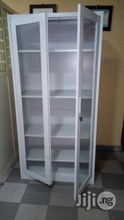 Brand New Imported Metal Book Shelves With Double Glass Door and Key   Furniture for sale in Lagos State, Lagos Mainland