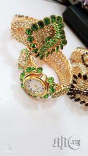 Quartz Gold Wrist Watch N Bangle | Watches for sale in Lagos State, Lagos Mainland