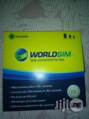 Worldsim Card 2in1 Uk And US Number (Roaming SIM) | Accessories for Mobile Phones & Tablets for sale in Lagos State, Surulere