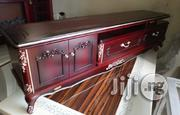 A First Class Royal Wooden Tv Shelve With Double Drawer | Furniture for sale in Lagos State, Ibeju