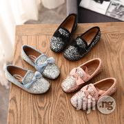Girls Sequin Princess Bow Moccasins PU Leather Flat Heel | Children's Shoes for sale in Lagos State, Ikeja
