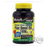 Mason Natural Flax Seed Oil 1000MG -- 100 Softgels | Vitamins & Supplements for sale in Lagos State, Ikeja
