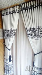 Black an Offwhite Brunette Curtain | Home Accessories for sale in Lagos State, Ikeja