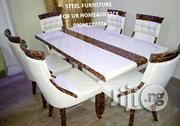 New Turkey Cristal Marble Dinning Table With Six Durable Chairst   Furniture for sale in Lagos State, Victoria Island