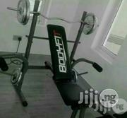 Weight Bench With 50kg Plate and Barbell | Sports Equipment for sale in Lagos State, Lekki Phase 1