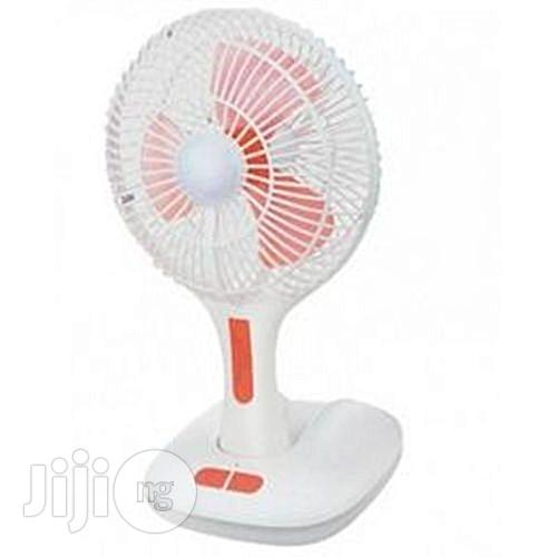 Rechargeable Fan With USB & LED Lighting 12 Hours