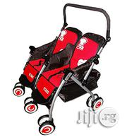 Generic Two In One Double Stroller- Red And Black | Prams & Strollers for sale in Abuja (FCT) State, Central Business District