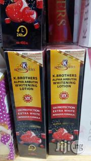 K Brothers Alpha Arbutin Whitening Lotion 400ml | Bath & Body for sale in Lagos State, Lagos Mainland