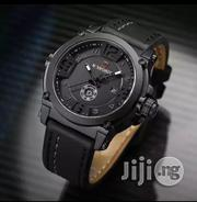 Naviforce Quality Leather Black Men Wristwatch | Watches for sale in Lagos State, Ikeja