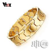 Bracelet Magnetic Men Bracelets Gold Hand Chain Adjustable | Jewelry for sale in Lagos State, Yaba